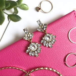 """Georgetta"" Crystal Statement Earrings"